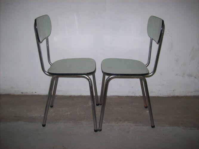 Paire de chaises formica