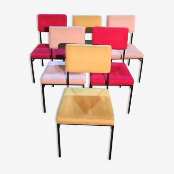 Set de 6 chaises Philippon et Lecoq