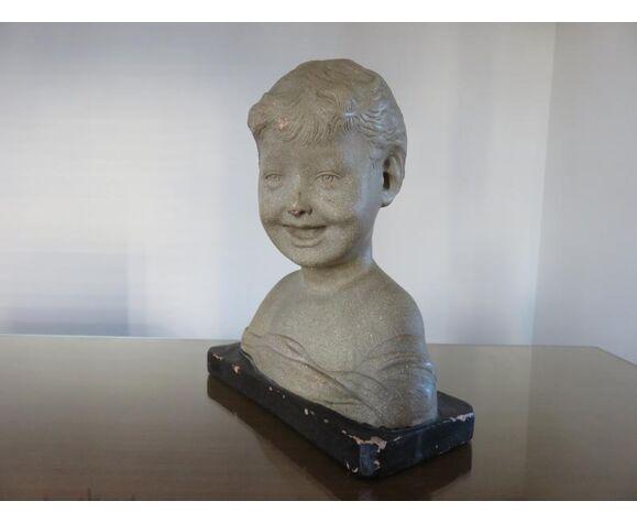 """Buste """" l'enfant rieur """" d'après Desiderio Da Settignano numéroté années 20 30"""