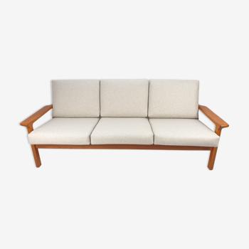 Teak 3-Seater Sofa by Juul Kristensen for Glostrup, 1970s