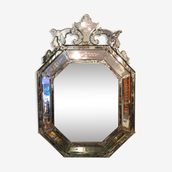 Large mirror on front end Venetian 19th century
