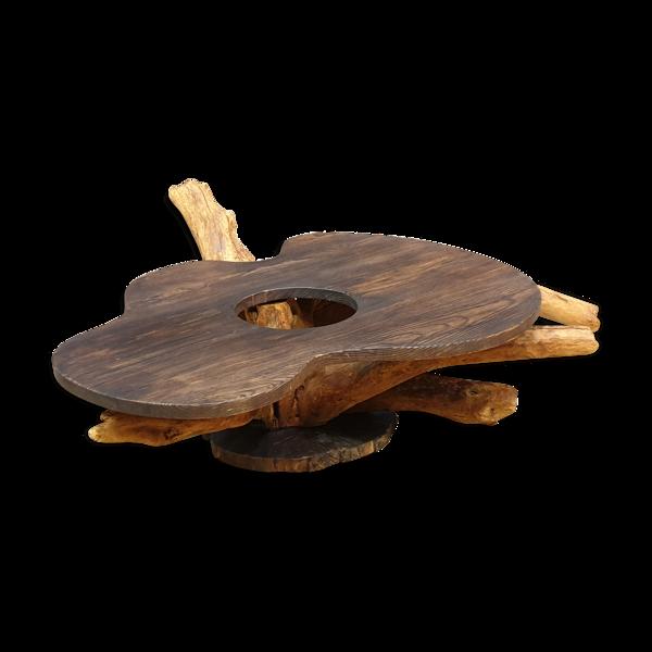 Selency Table basse 1960 en bois forme libre