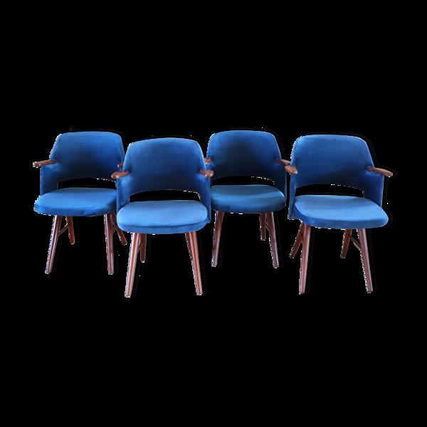 4 chaises ft30, par Cees Braakman pour Pastoe, 1960