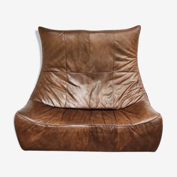 Canapé en cuir vintage 'the rock' de Gerard van den berg pour Montis, années 1970