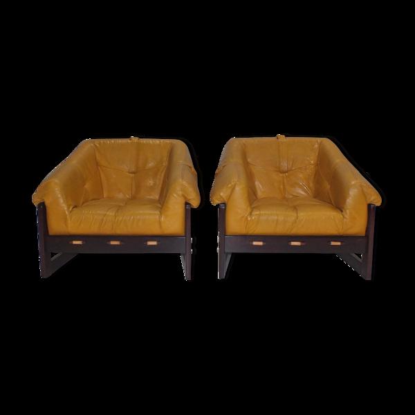 Lot de 2 fauteuils brésiliens MP-091 de Percival Lafer pour Lafer S.A. années 1960