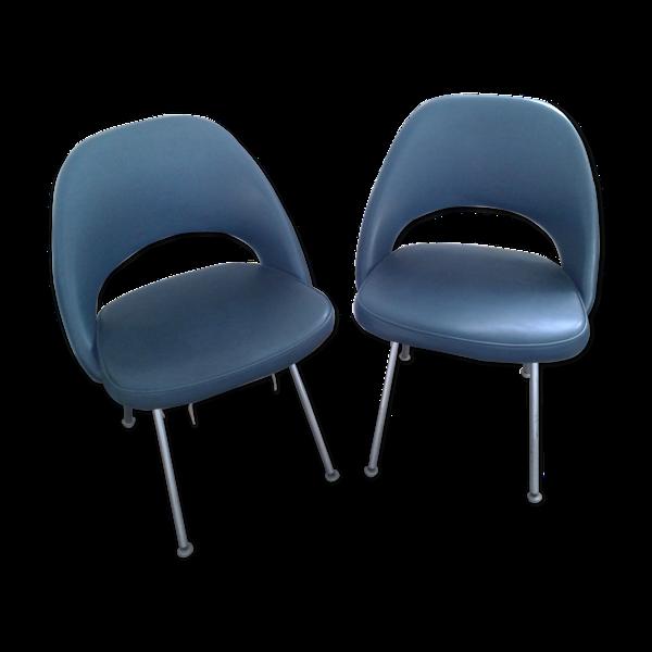 Chaises conférence par Eero Saarinen pour Knoll international 1965