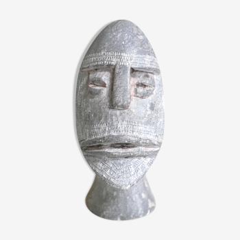 Buste ethnique en pierre, années 70