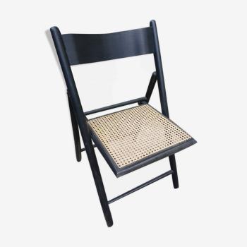 Chaise pliante vintage cannee
