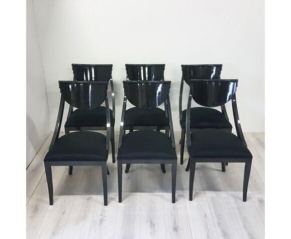 Ensemble de 6 chaises à manger par Pietro Constantini pour Ello Italie années 1970