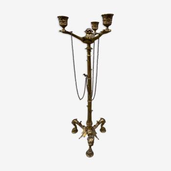 Chandelier auguste maximilien delafontaine 1840 en bronze dore