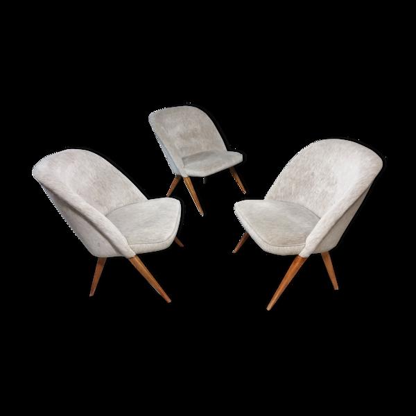 Selency Trio de fauteuils Scissor par Knoll Antimott