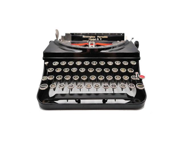 Machine à écrire Remington model 5T noire usa révisée ruban neuf