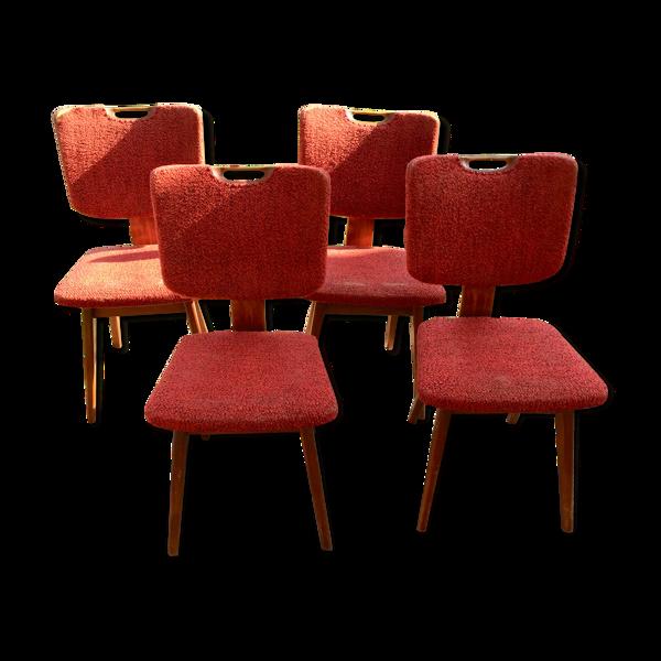4 chaises moderniste, 1950