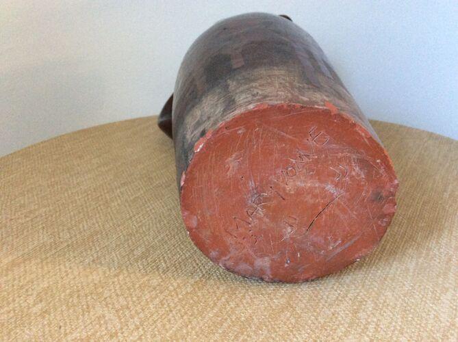 Poterie artisanale en terre cuite vernissée