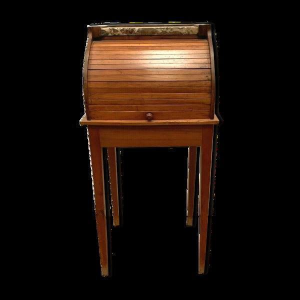 Chevet a rideau de style Louis XVI merisier XIX siècle Table Console