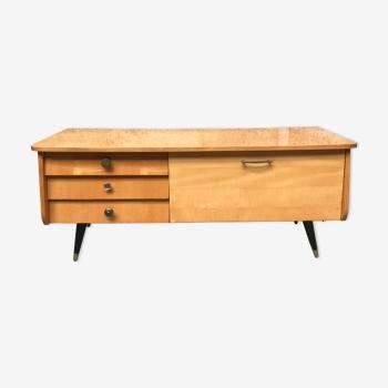 Enfilade vintage scandinave meuble tv 1950 design pieds compas