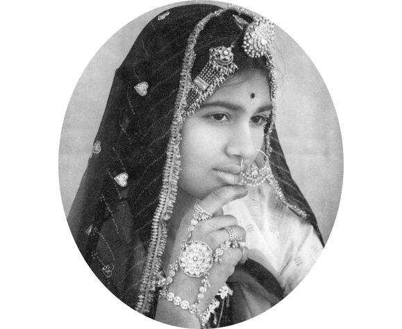 Portrait de jeune femme Rajasthan