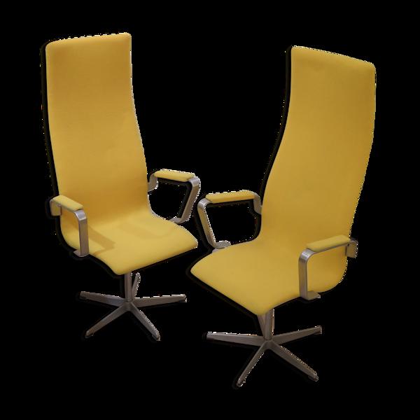 Arne Jacobsen: Paire de fauteuils pivotants, modèle Oxford