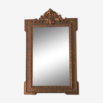 Miroir de cheminée avec fronton