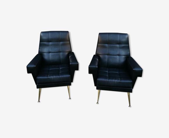 Paire de fauteuils design italien vintage 60