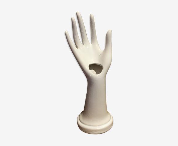 Vase main en porcelaine vintage