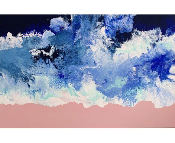 Caribbean Queen art abstrait expressionniste acrylique pièce unique