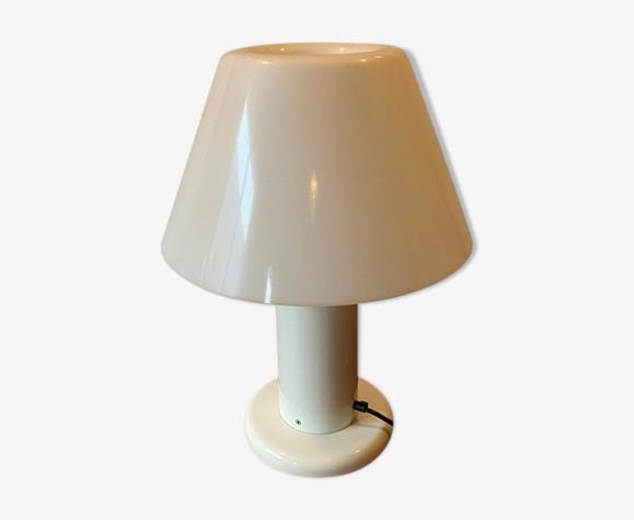 Lampe Guzzini métal laqué blanc hauteur 55cm 1970