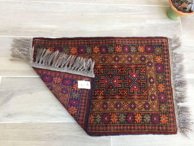 Tapis oriental en laine 80 x 46cm