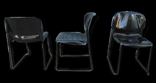 3 design chairs from the 70 s 80 s, designer Gerd Lange