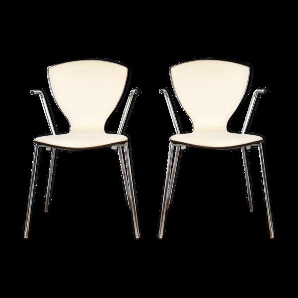 Une paire de 2 fauteuils danois «Fly» conçus par Per Jepsen Aagaard pour Danerka au Danemark dans les années 2000
