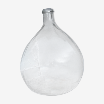 Dame jeanne en verre transparent, contenance 10 litres