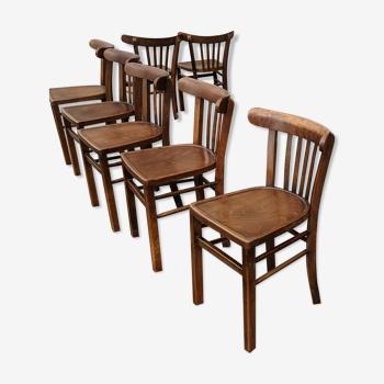 Lot de chaises de bistrot alsacien