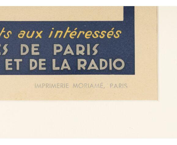Affiche des années 1940 «Jazz», 63 x 73 cm