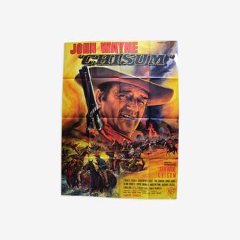 "Original movie poster ""Chisum "" 1970 John Wayne"