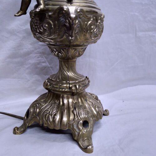 Pied de lampe en bronze 1970
