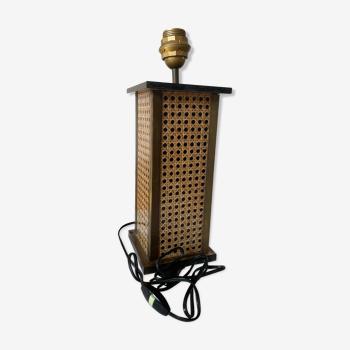 Pied lampe cannage années 70