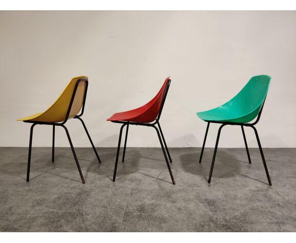 Chaises coquillage vintage de Pierre Guariche pour Meurop, années 1960