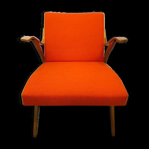 Fauteuil orange de Tatra Provenec années 1960