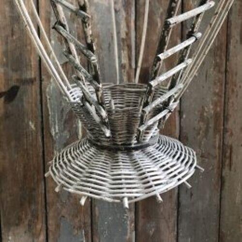 Cage décorative ancienne en rotin
