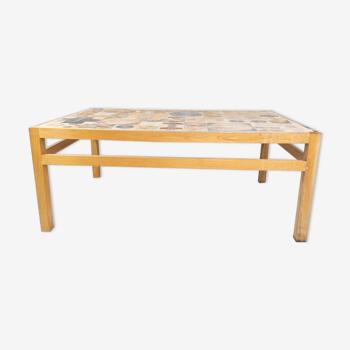 Table basse en chêne, conçue par Tue Poulsen des années 1970