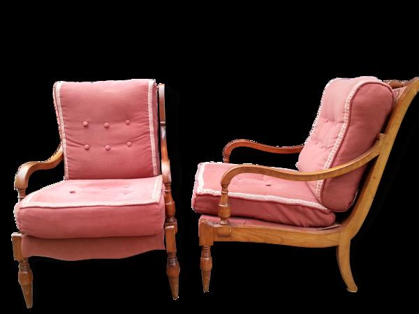 Paire de fauteuils vintage années 60