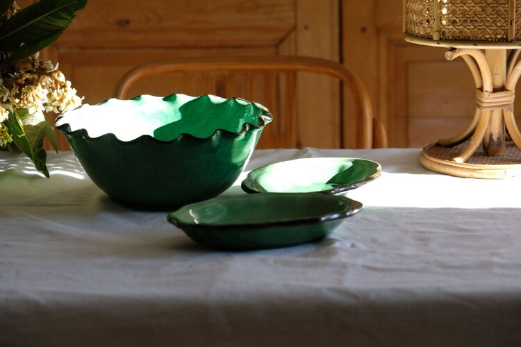 Ravier antique vernissé Provence