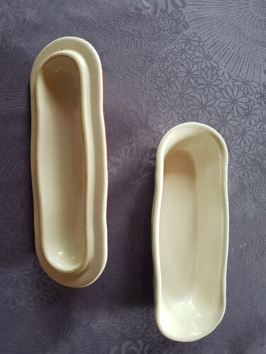 Set of 3 earthenware of Lunéville