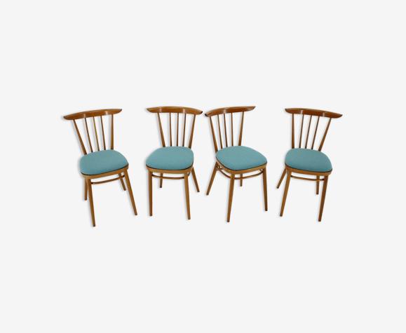 Lot de 4 chaises par Tatra, Tchécoslovaquie