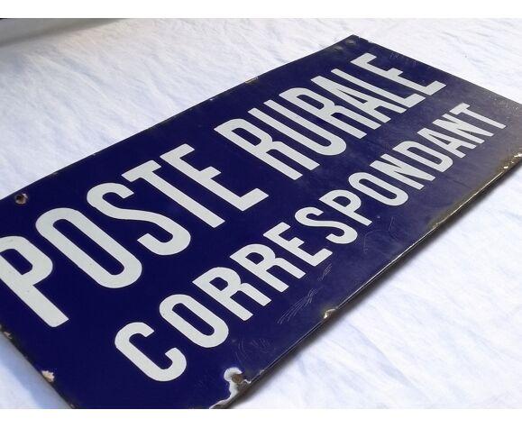 Plaque postale émaillée