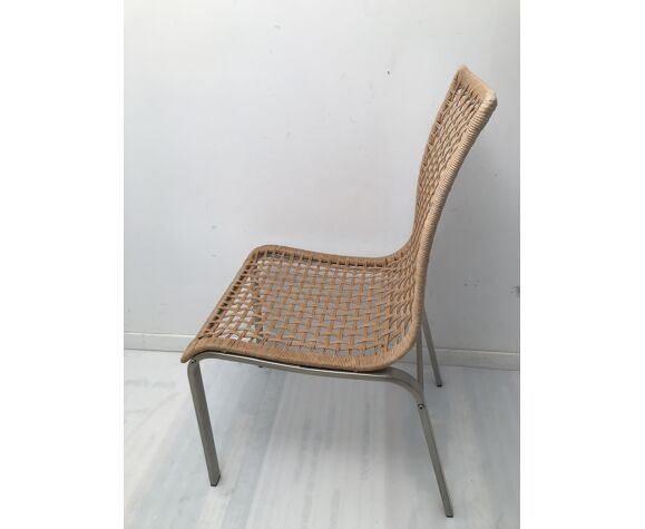 Paire de chaises en corde tissé