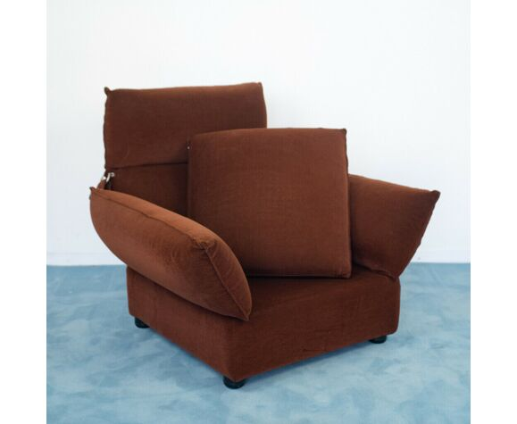 Sofa set 2 armchairs armchair from the goose design 70s vintage modern