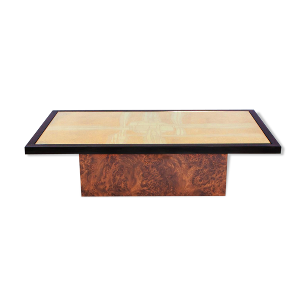 Selency Table basse en laiton émaillé par Maho 1970s