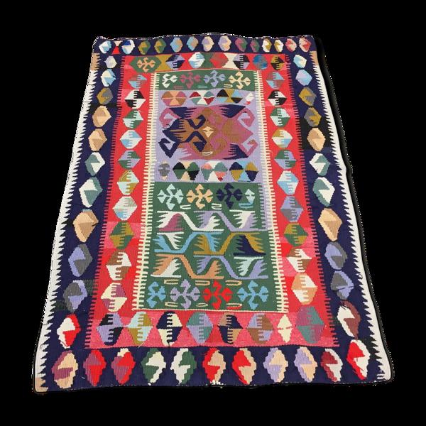 Tapis vintage turc kilim 131x88 cm