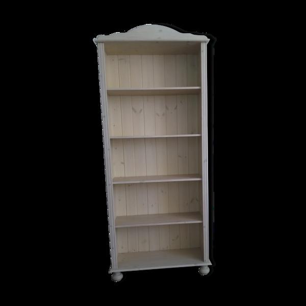 Bibliothèque scandinave en pin lasuré